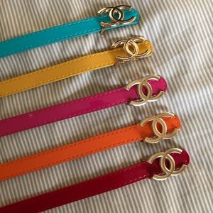 Chanel Colorful Belts